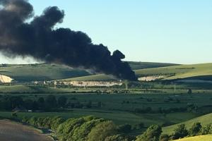 Rush hour motorist urged to avoid A27 after major fire
