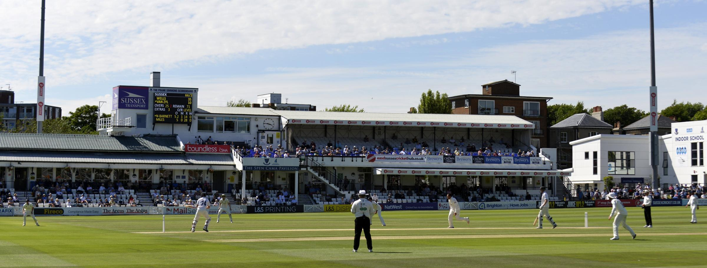 How Wright kept Sussex in the pink on a red-letter day at Hove