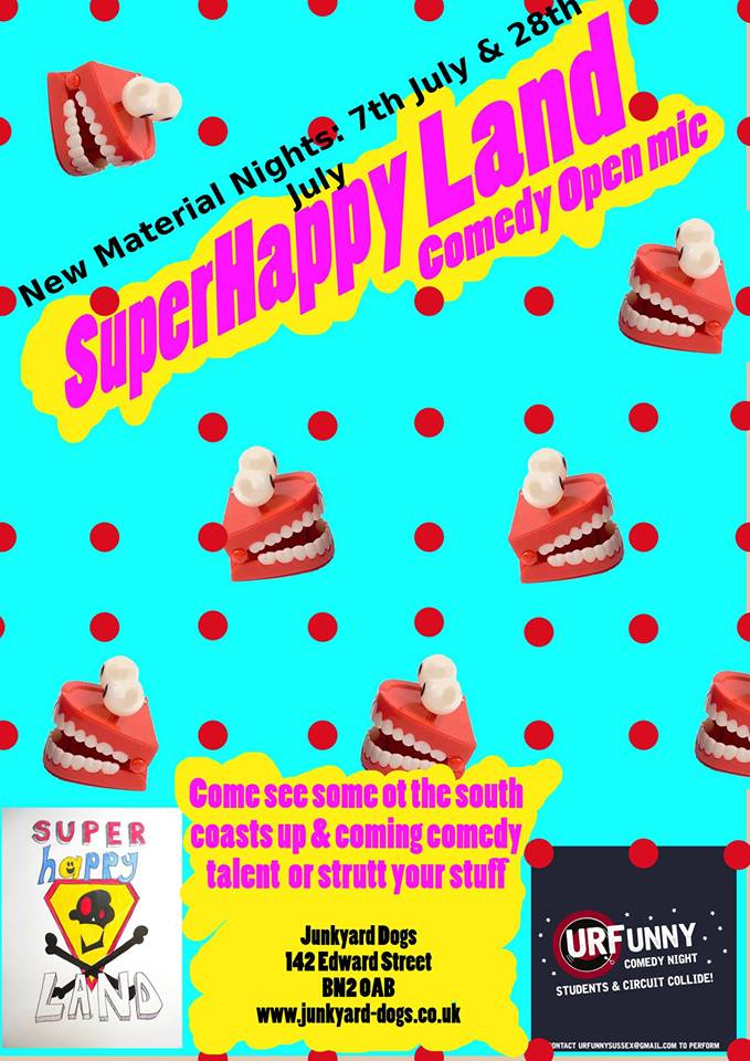 25|08 SuperHappy Land Comedy Open Mic