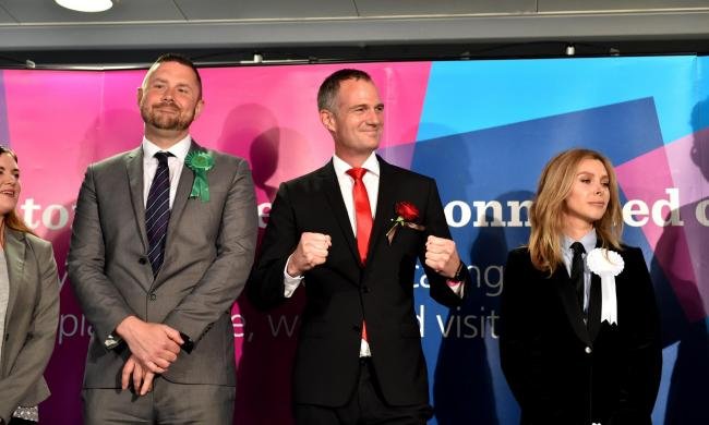 Labour's Peter Kyle celebrates retaining his Hove seat in the June 2017 General Election