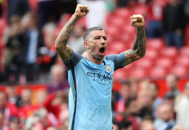 Kolarov heading away from Brighton and Hove Albion's opening Premier League opponents Manchester City - The Argus