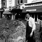 The Argus: Roadworks on Blatchington Road, Hove, March 1990