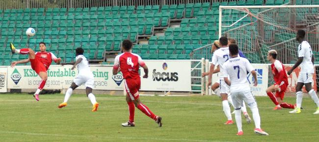 Romone Rose scores a cracker against Charlton's under-23s in pre-season. Picture by David Pillman
