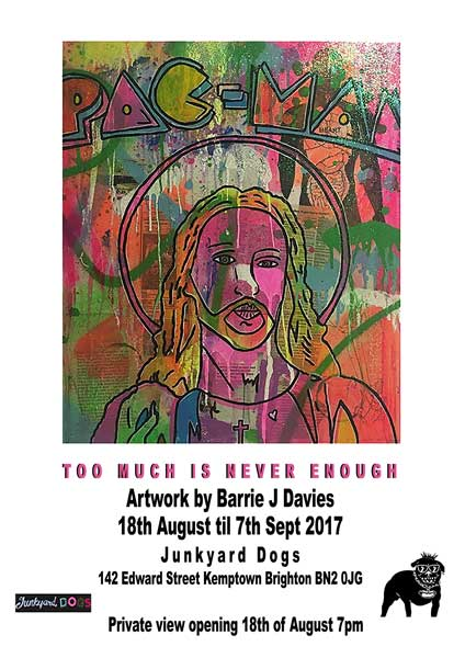 Private Viewing 'Too much is never enough' Art Exhibition by Barrie J Davies