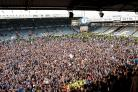 Portsmouth fans celebrate promotion to League One