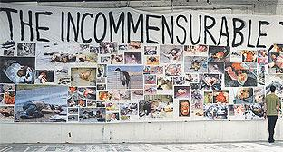 Thomas Hirschhorn's wall of images led to a ban on under-18s when it was displayed in New York