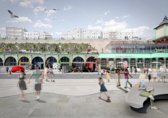 Initial designs for the £24 million refurbishment of Madeira Terraces.  Picture: Wilkinson Eyre