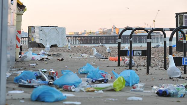 The Argus: Litter left on Brighton seafront