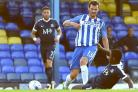 Pascal Gross in pre-season action for Albion at Southend