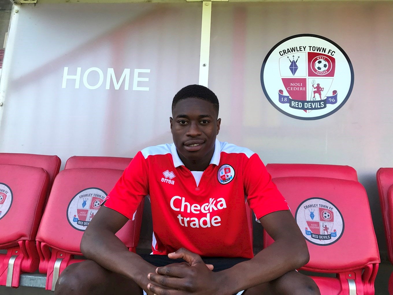 Ibrahim Meite has joined Crawley on loan. Picture: Crawley Town FC