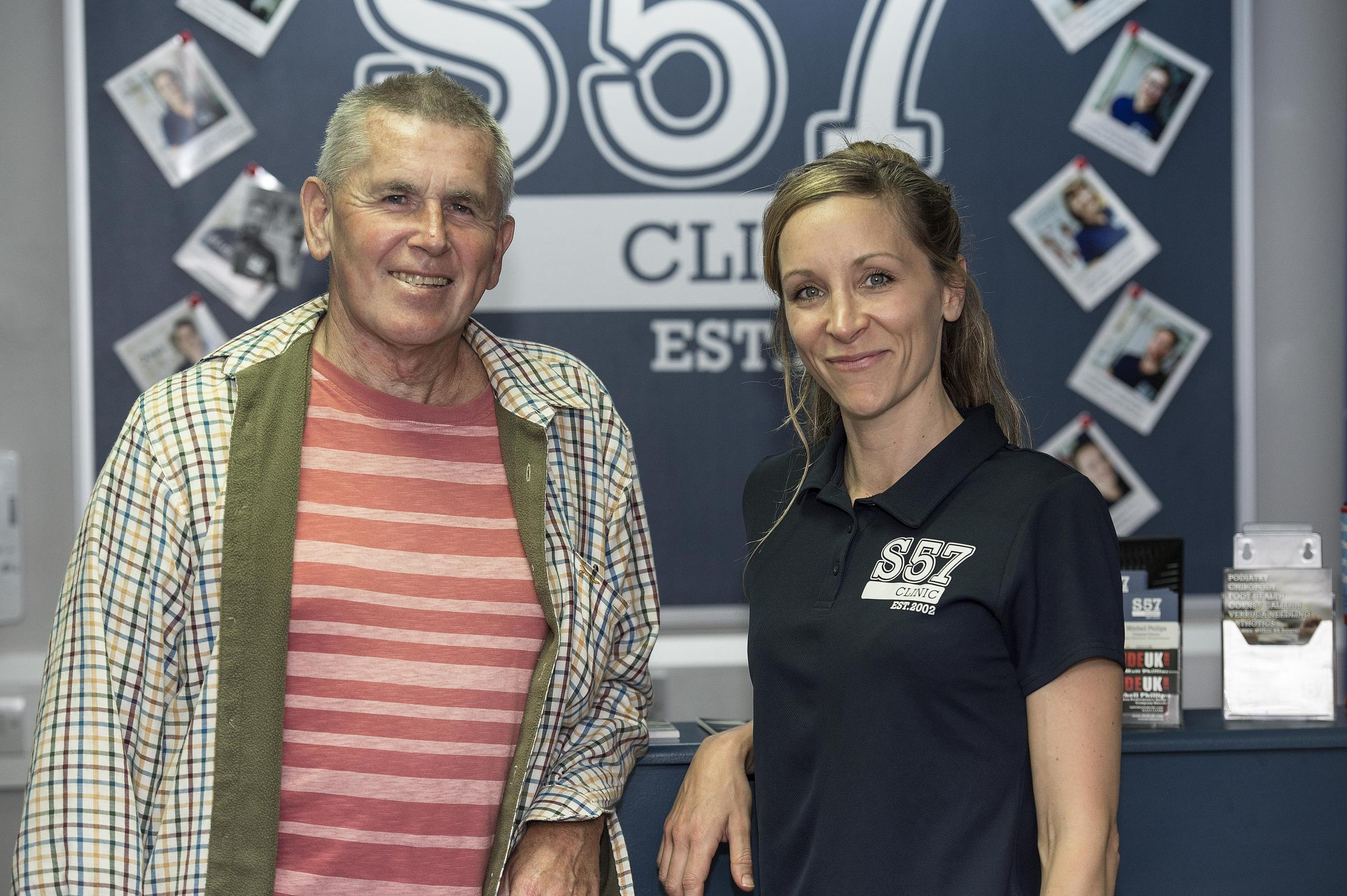 Richard Donovan and Elle Phillips at the Studio57 clinic in Hove