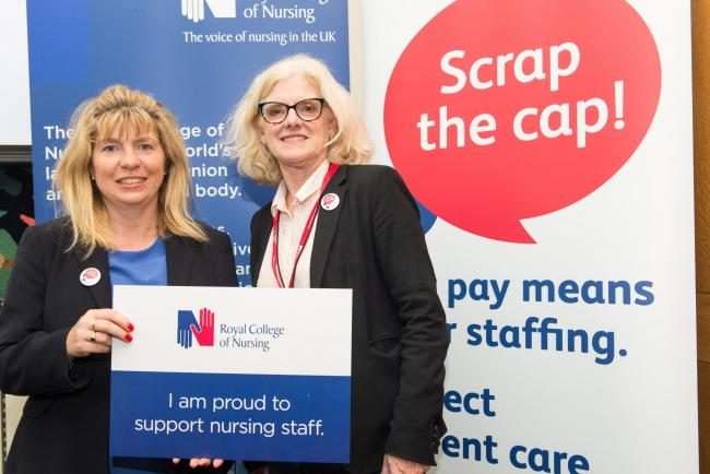 Maria Caulfield MP meets nurses at Westminster