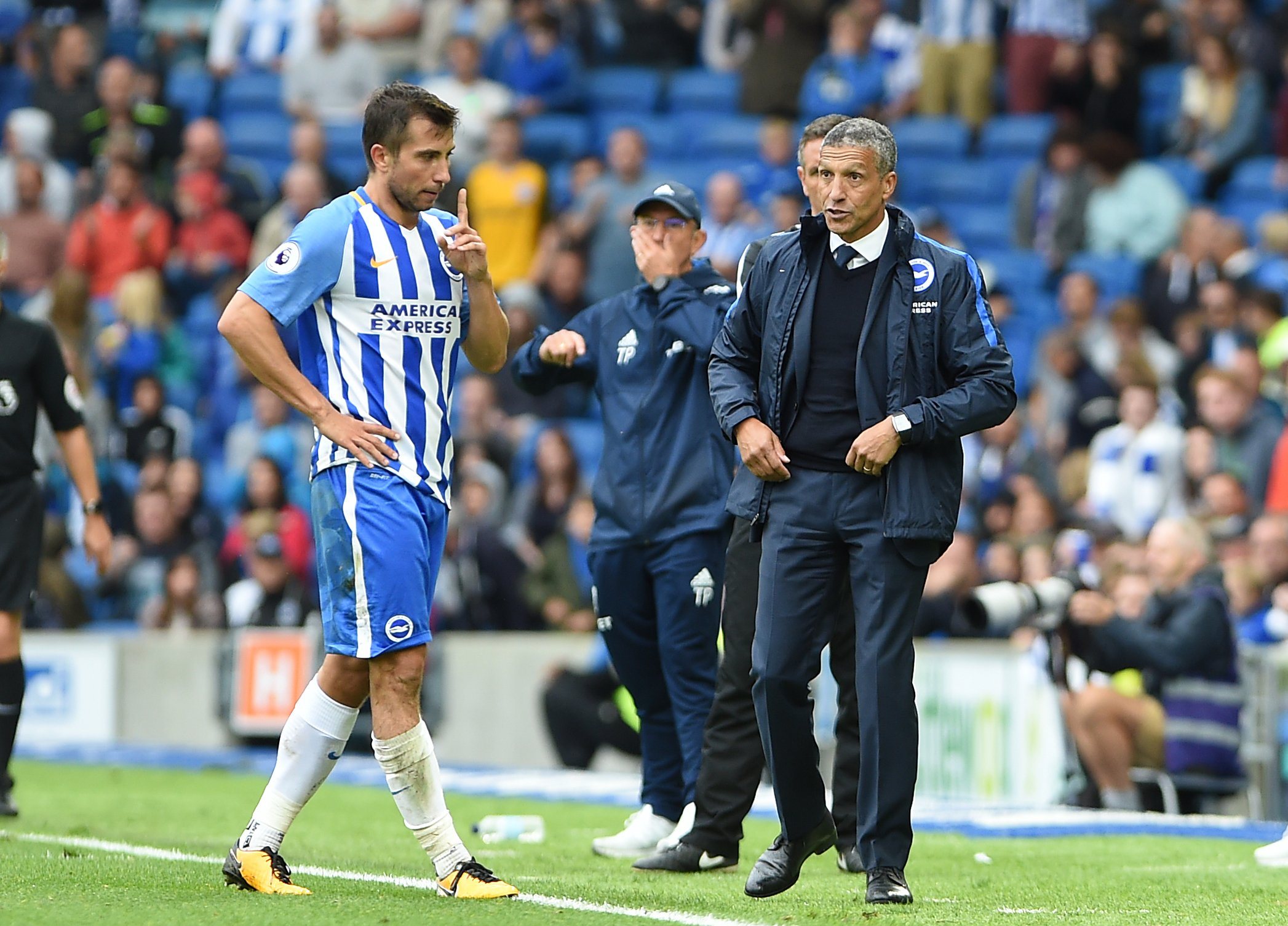 Chris Hughton is disappointed to see Frank de Boer axed after just four games
