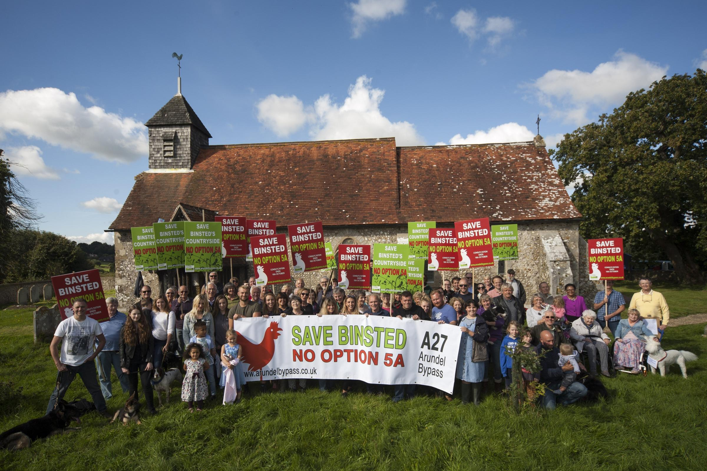Campaigners protest against the proposal