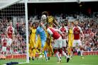 Not out of play. Chris Hughton had no complaints about the lead-up to Arsenal's opening goal. Pictures Simon Dack