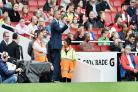 Chris Hughton at the Emirates earlier this season, where Albion lost 2-0 to Arsenal