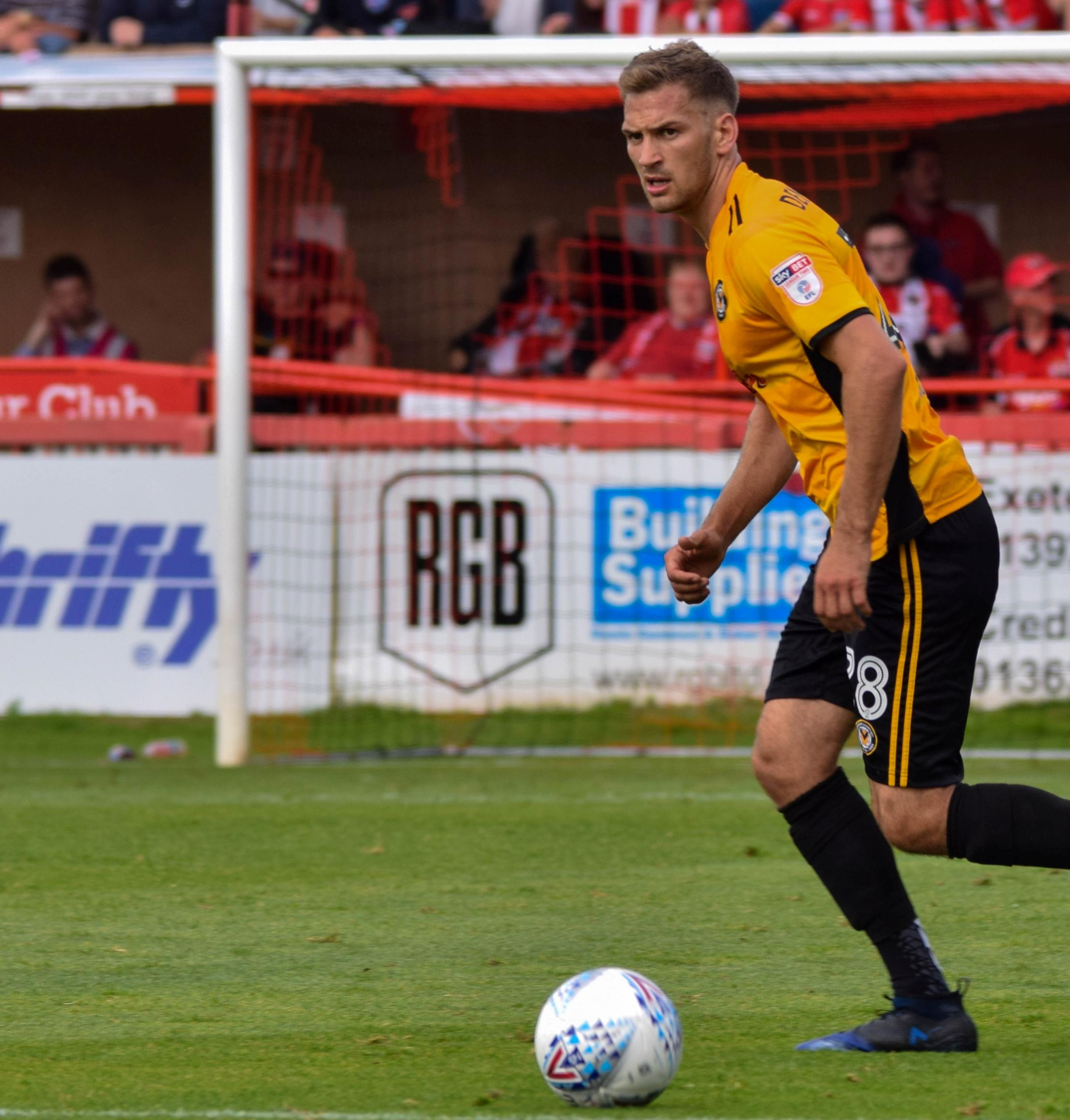 Mickey Demetriou on the ball for Newport. Picture by newport-county.co.uk