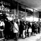 The Argus: Sales queue at Waring and Gillow North Street Brighton 1988