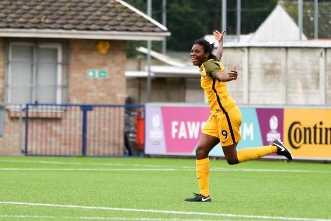 Ini Umotong is joint top scorer in the elite of the women's game.  Picture: Geoff Penn.