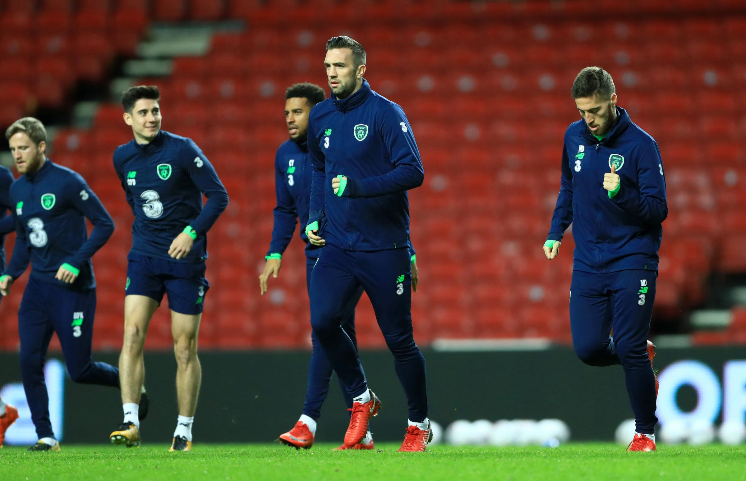 Shane Duffy goes through his paces in training last night