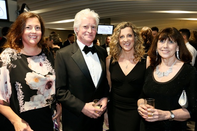 Paula Seager, William Goodwin, Sally Gunnell OBE and Hilary Knight at the Sussex Food and Drink Awards ceremony