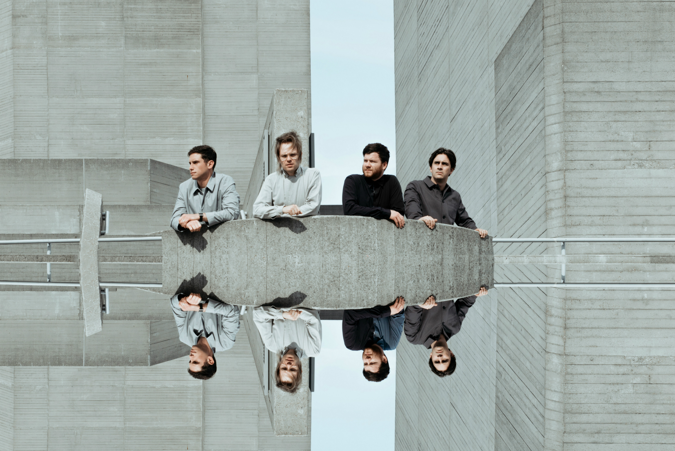 Enter Shikari, with singer Rou Reynolds second left