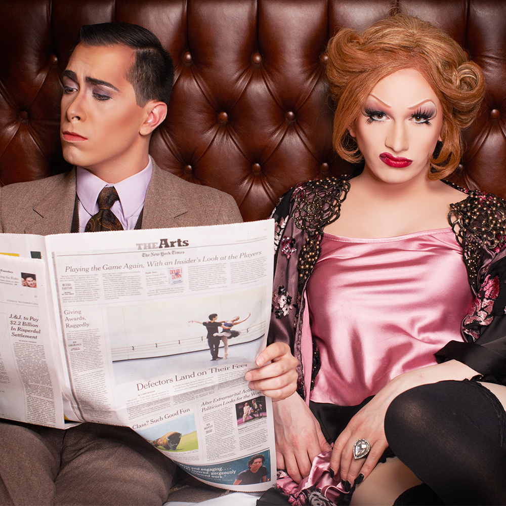 Jinkx Monsoon and collaborator Major Scales