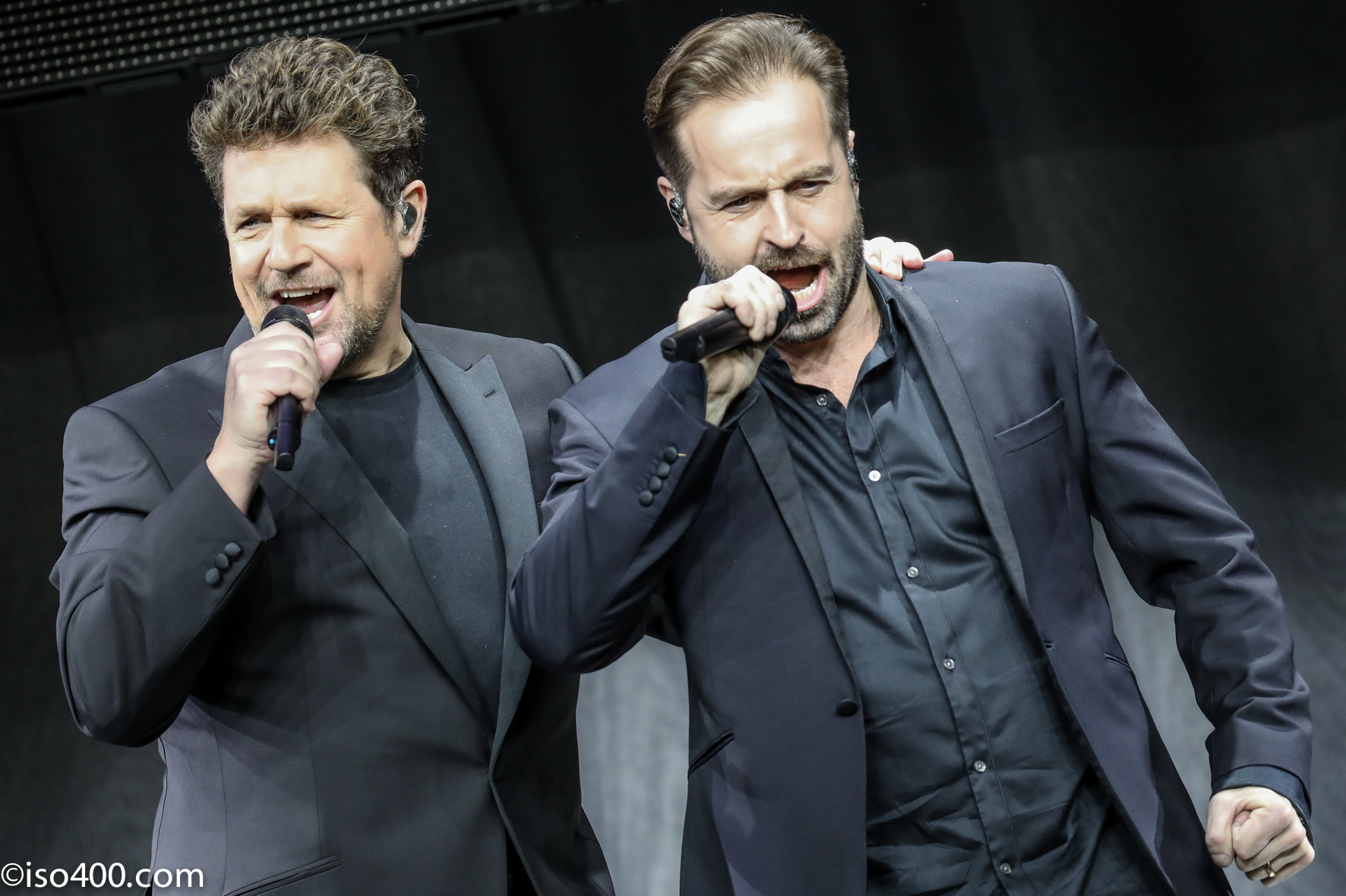 Michael Ball and Alfie Boe. Picture: Mike Burnell