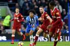 Izzy Brown's performance in the 5-1 defeat by Liverpool was one of the plus points for Albion