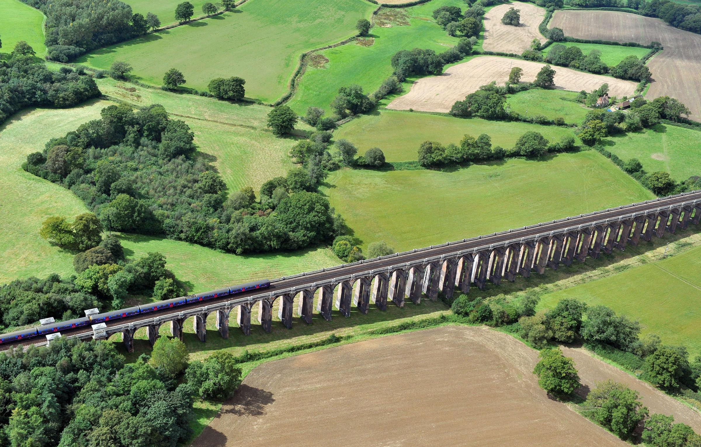 A view of of the Ouse Valley viaduct also called Balcombe Viaduct