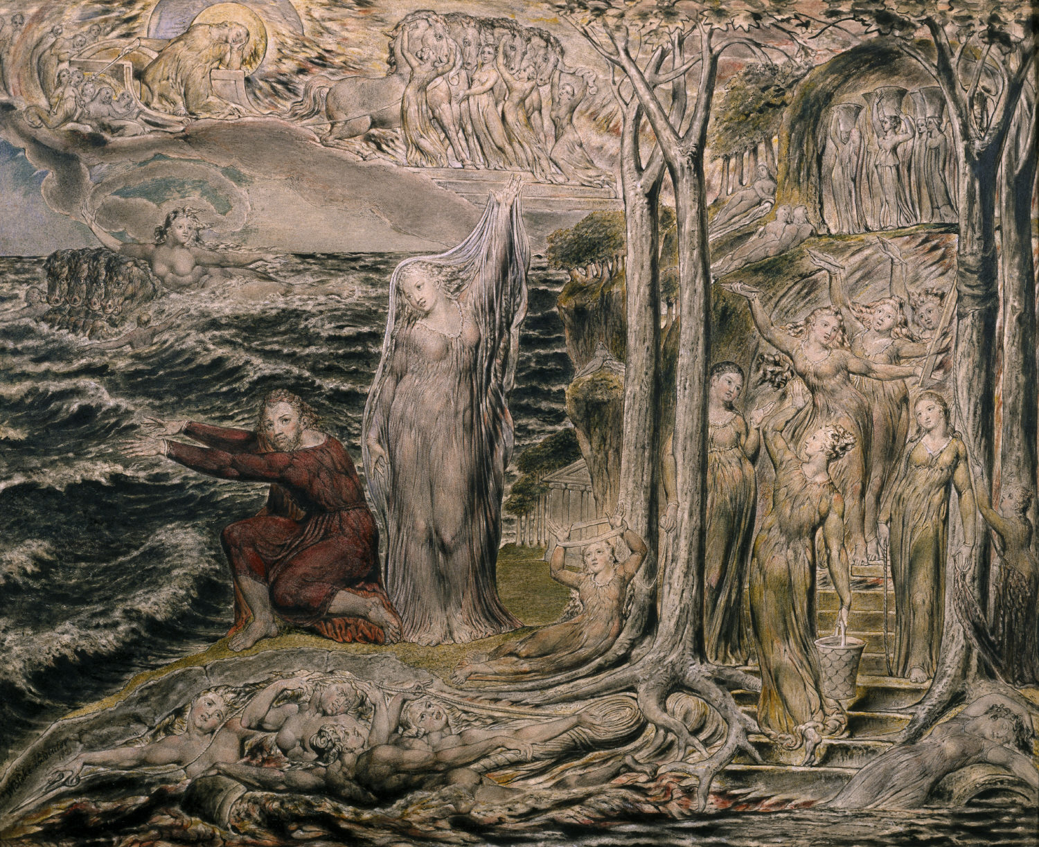 The Sea of Time and Space by William Blake