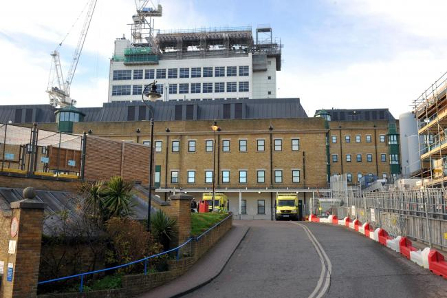 Picture shows Accident and Emergency entrance to the Royal Sussex County Hospital, (RSCH) Brighton..