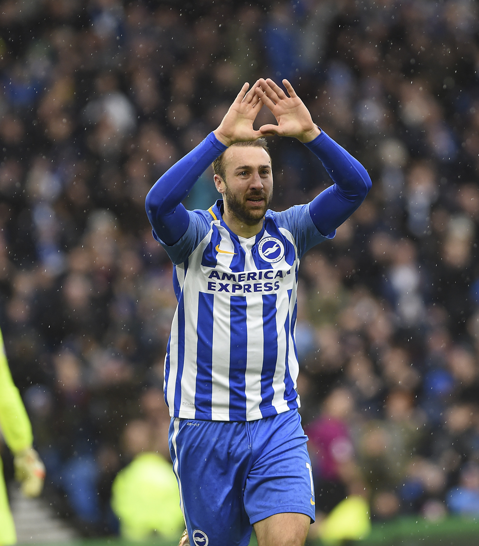 Glenn Murray celebrates scoring against Bournemouth at the Amex last season