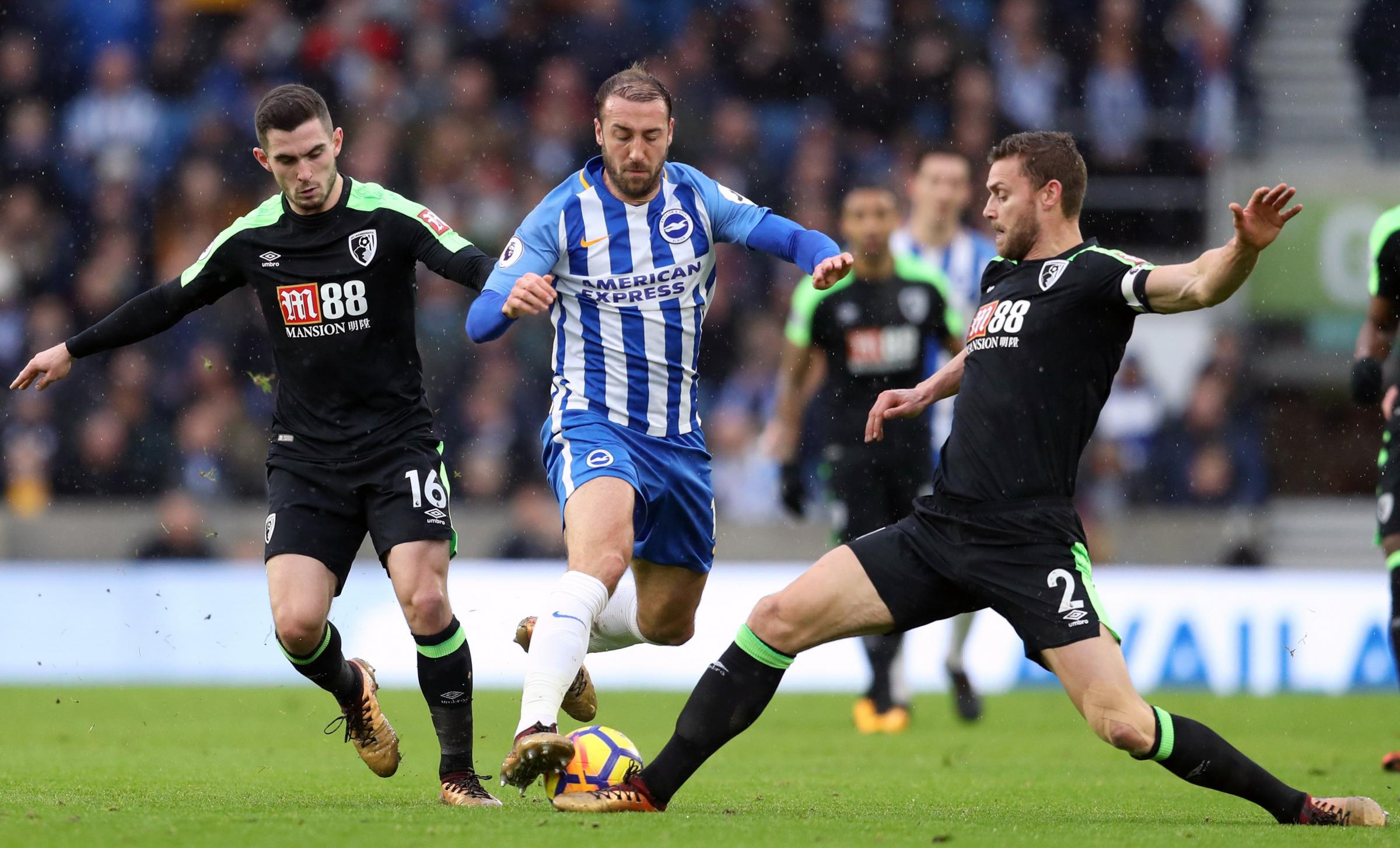 Glenn Murray in action against Bournemouth