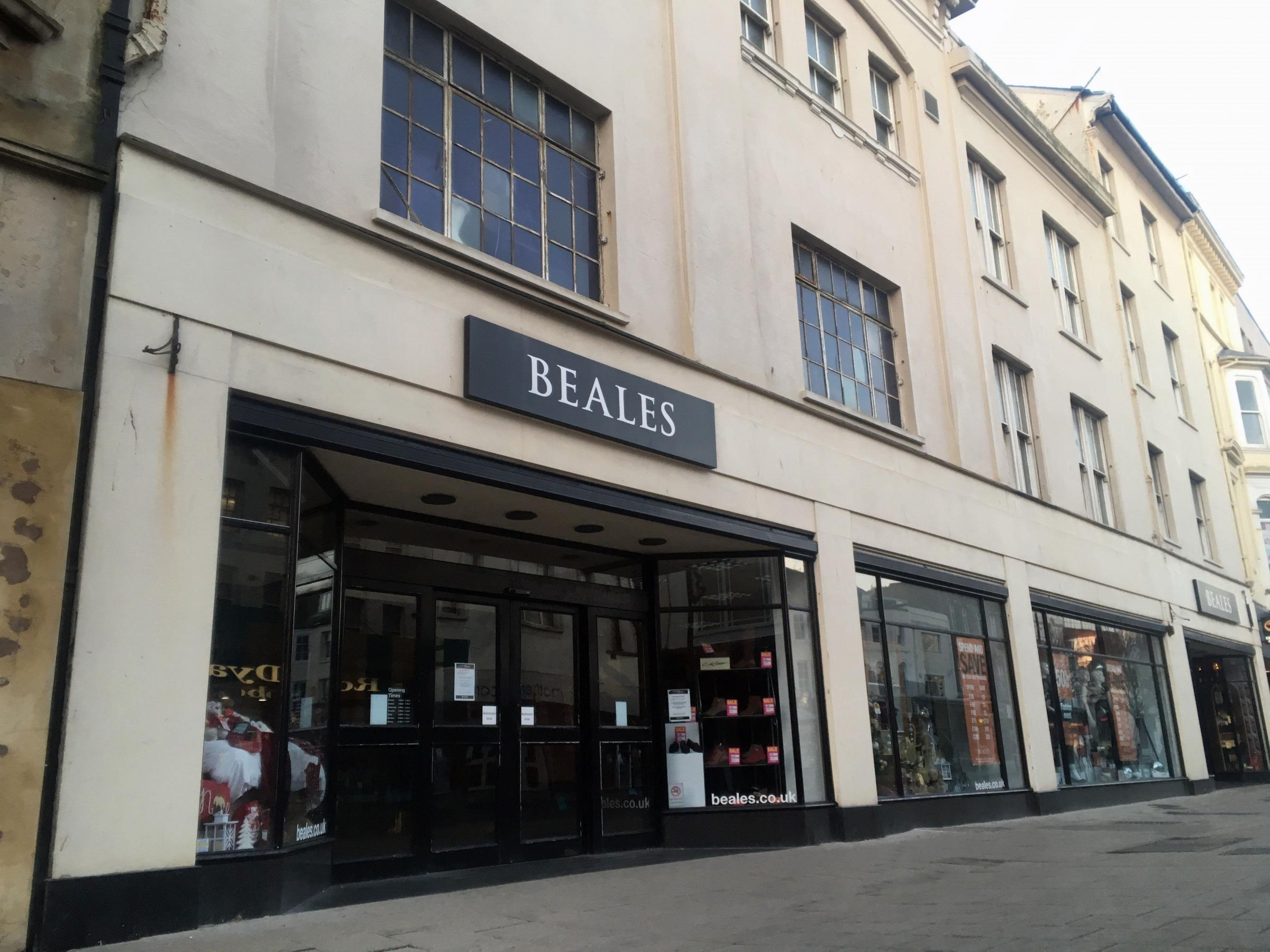 Beales department store, in Worthing.