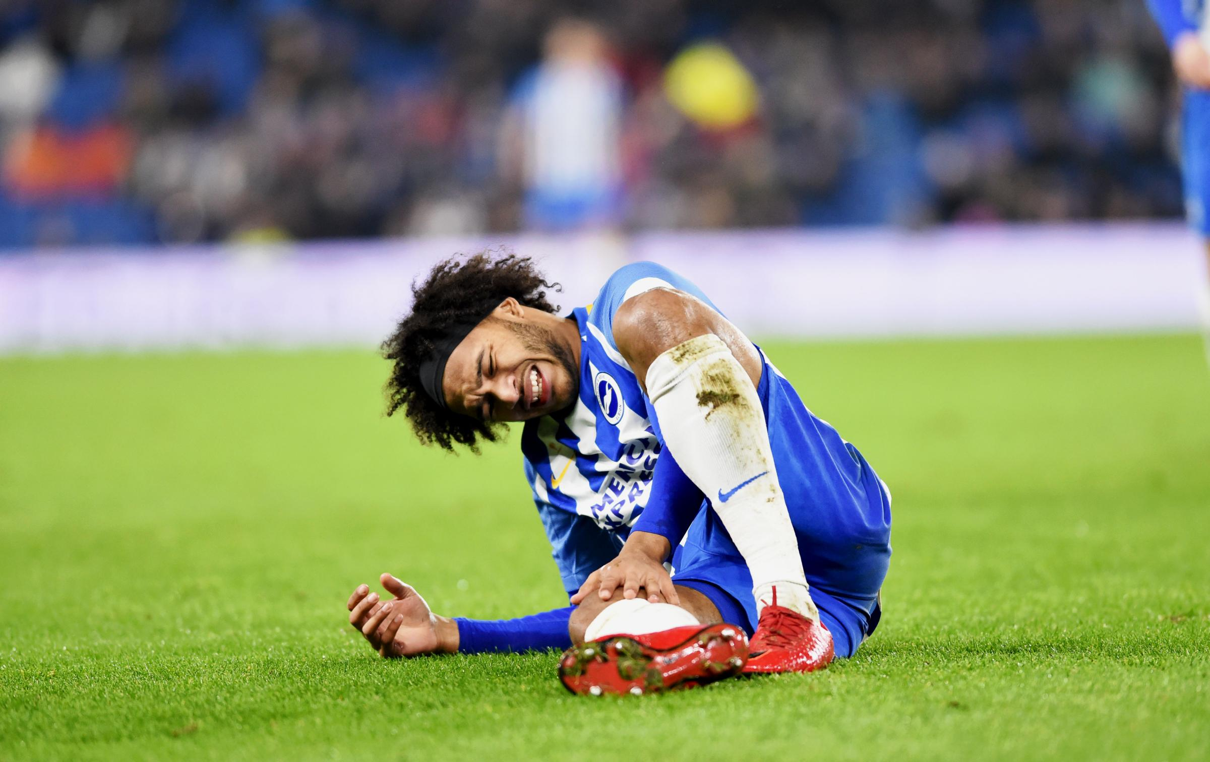 Izzy Brown was injured early on