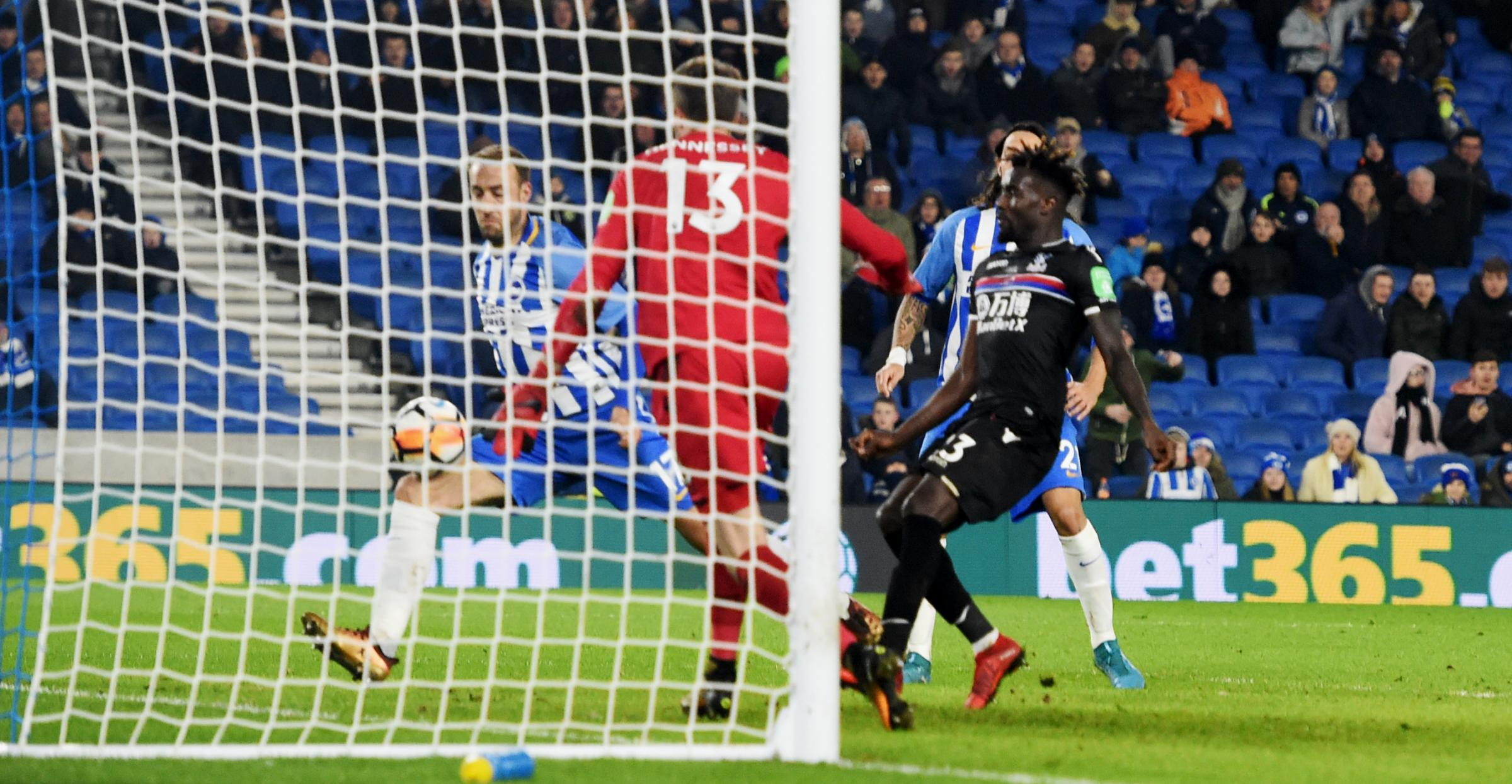 Glenn Murray converts Albion's late winner against Crystal Palace. Picture Simon Dack
