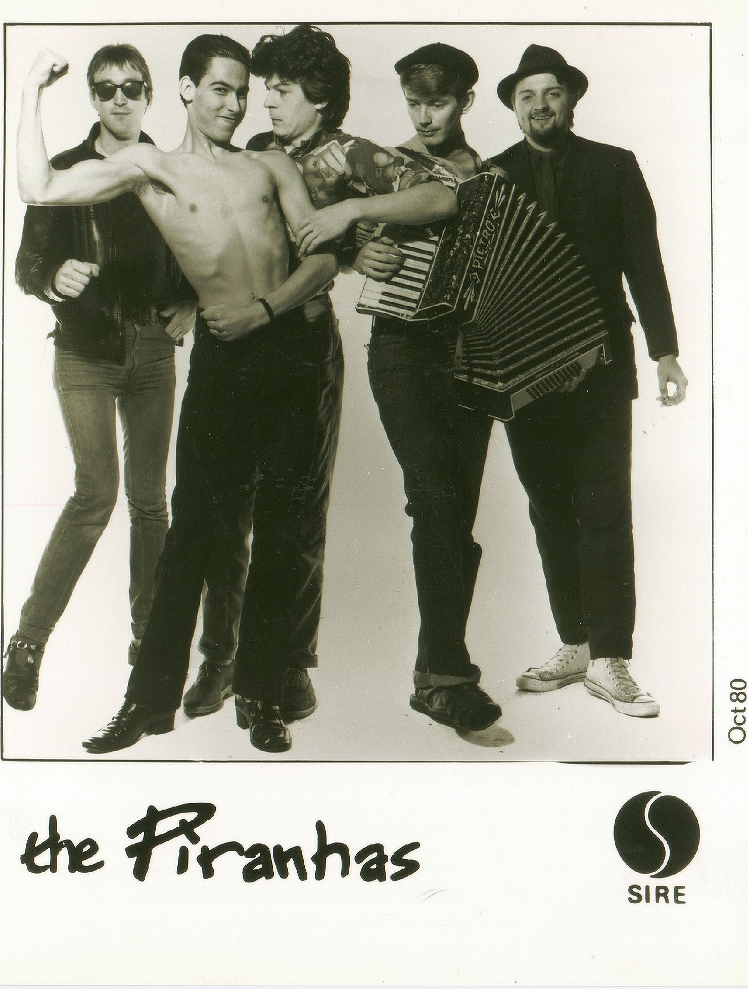 The Piranhas - Richard Adland pictured second from left