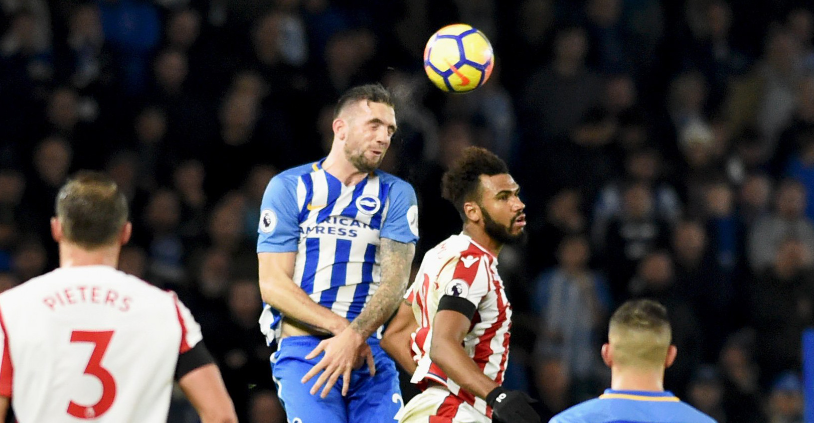 Shane Duffy soars to head clear against Stoke