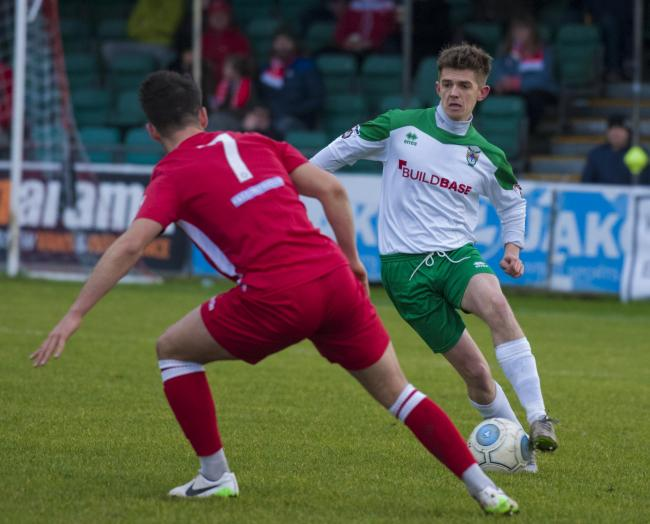 Doug Tuck in action for Bognor. Picture by Tommy McMillan