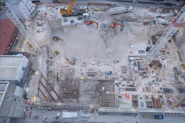 A bird's eye view of the Royal Sussex County Hospital redevelopment