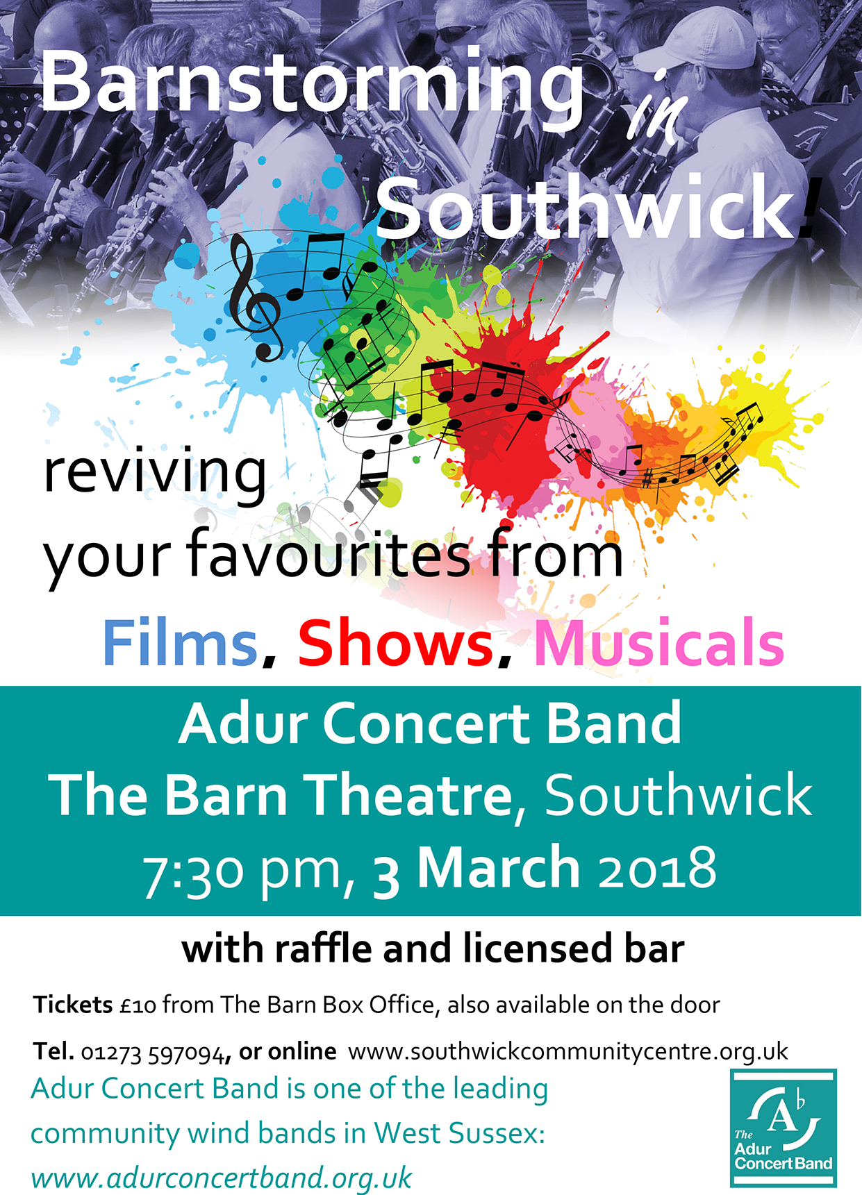 Barnstorming in Southwick with the Adur Concert Band
