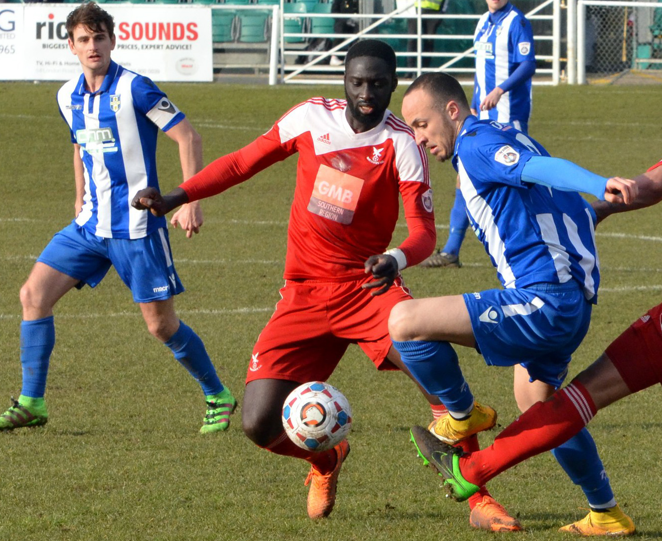 Arnaud Mendy in action during his first stint at Whitehawk. P{icture by David Pillman