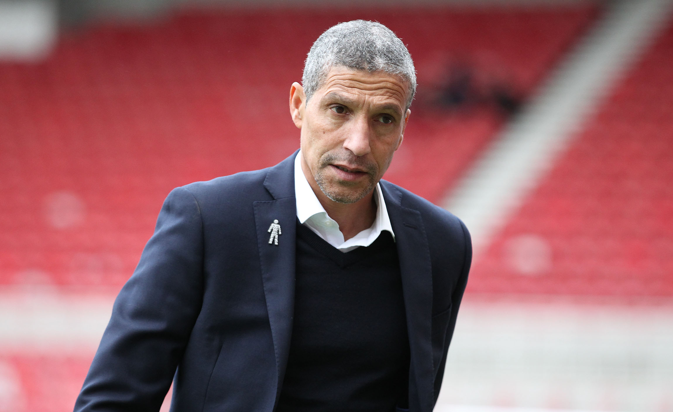 Chris Hughton wants his players to stay in control of their emotions in the heat of their clash at Palace