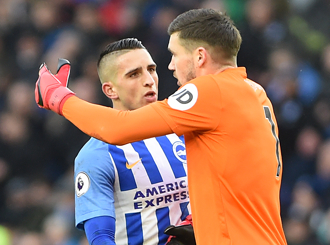 Mathew Ryan with Anthony Knockaert