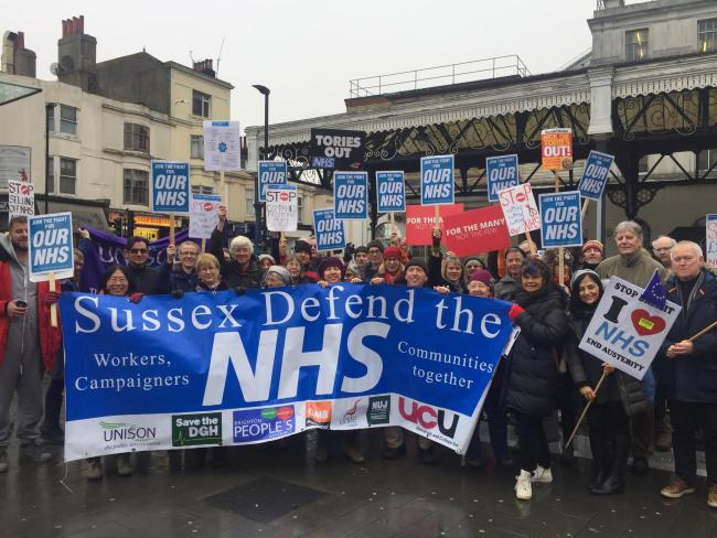 sussex defend the nhs march