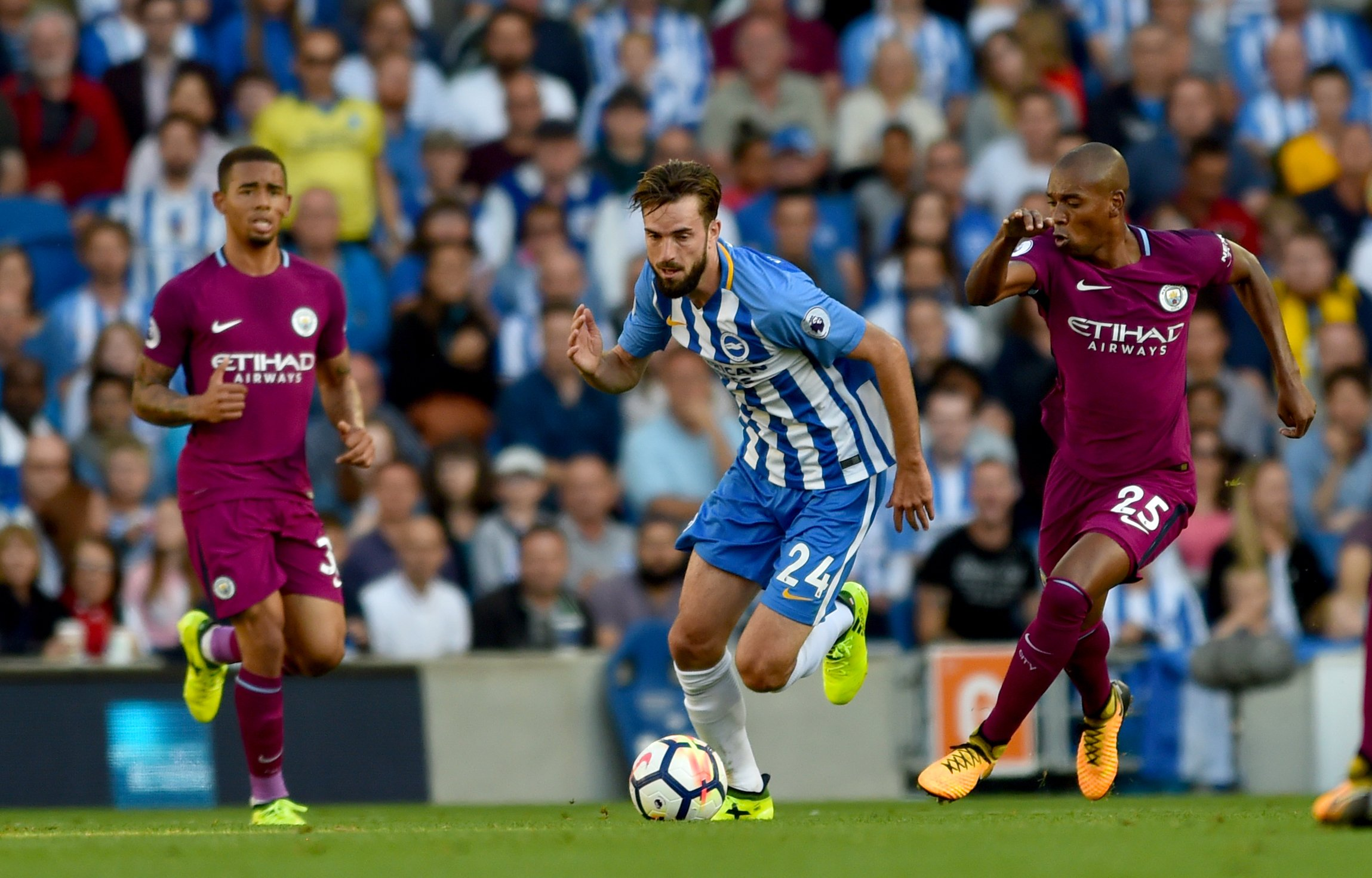 Albion could face Manchester City towards the end of the season