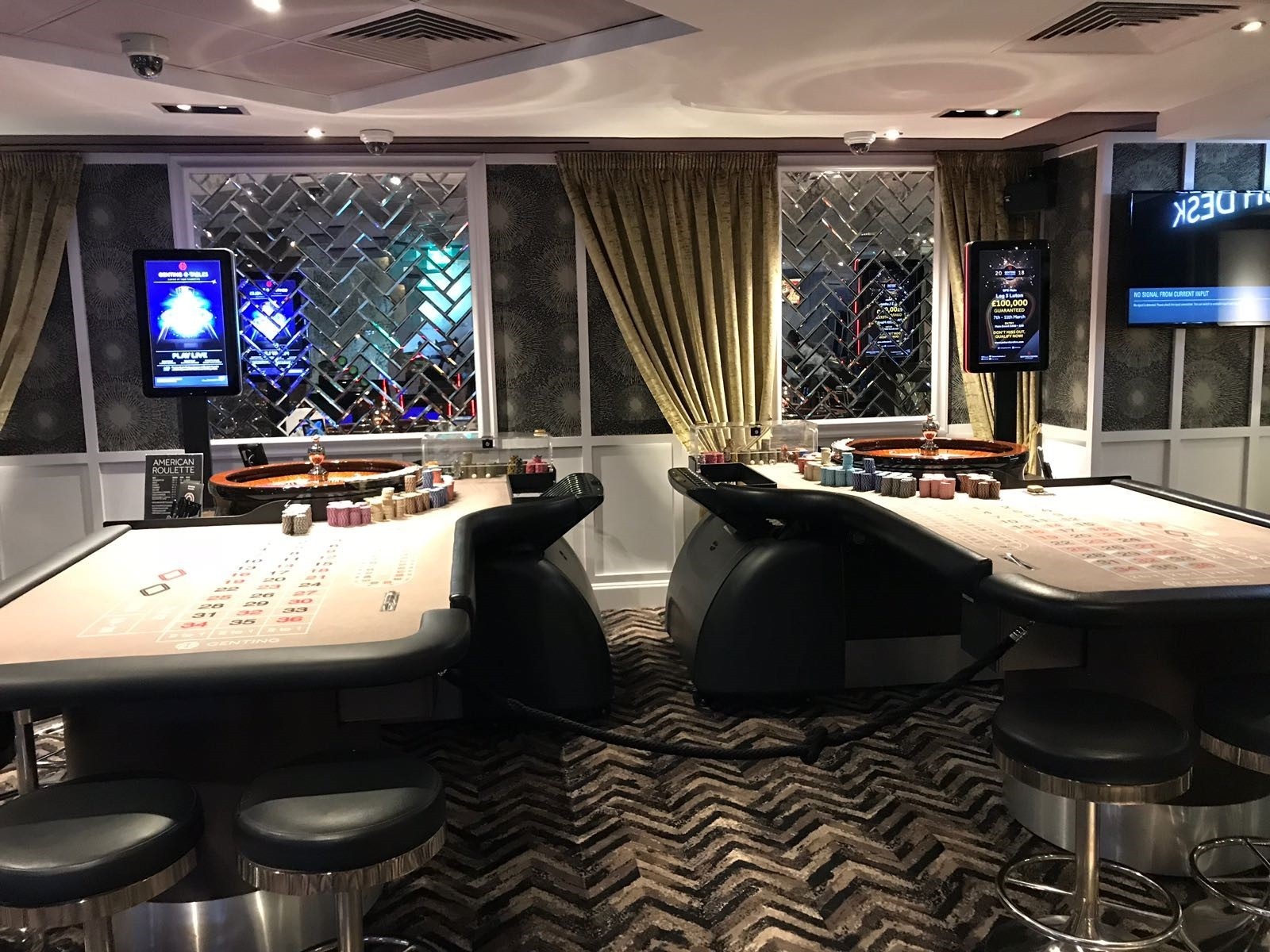 New poker tables