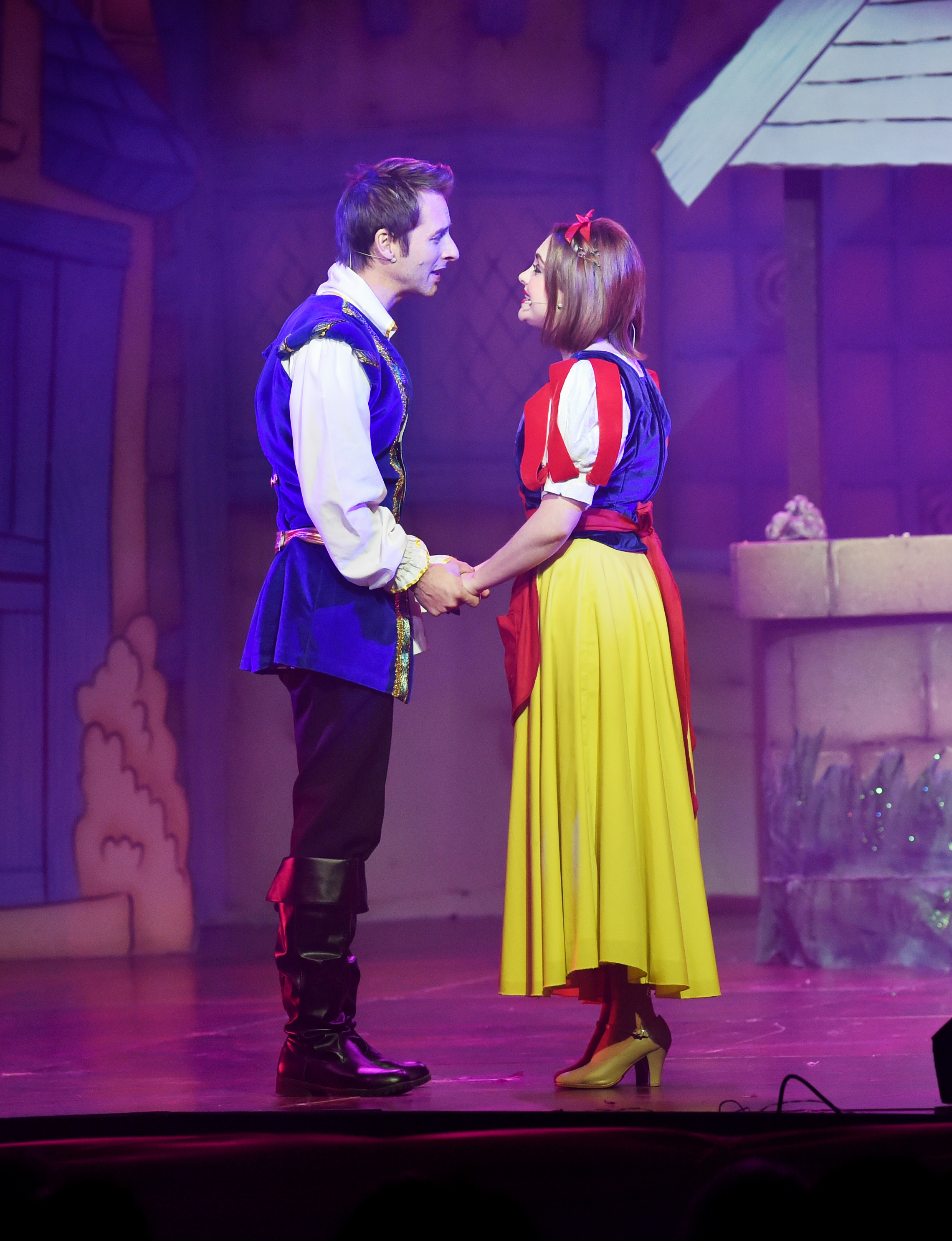 Press Night for Snow White and the Seven Dwarfs Pantomime at the Pavilion Theatre in Worthing....