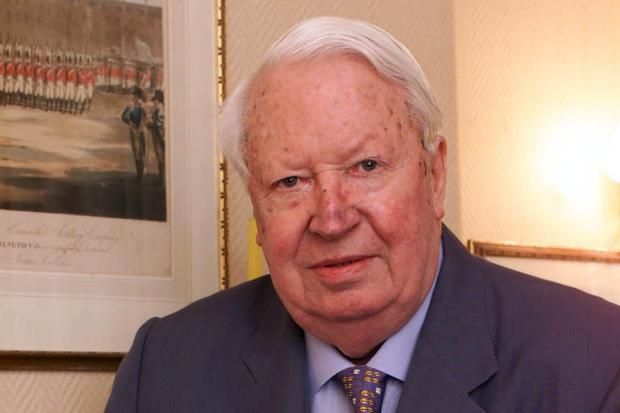 Former Conservative Prime Minister Sir Edward Heath